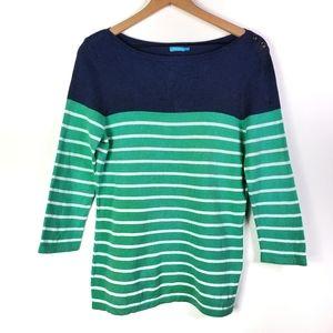 J. McLaughlin Nautical Striped Sweater SZ Medium